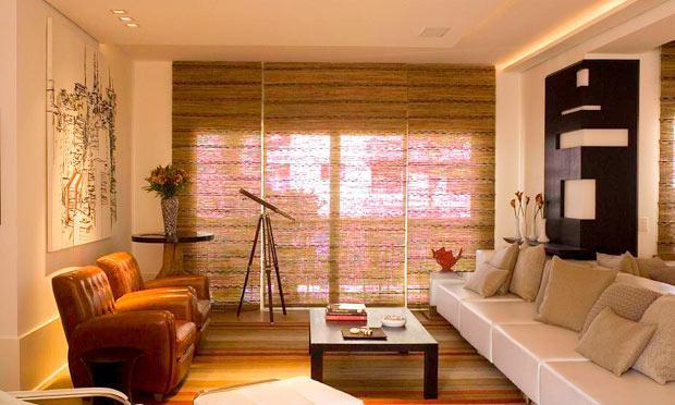Tecido diferente para cortina  (Foto: M de Mulher/Abril)