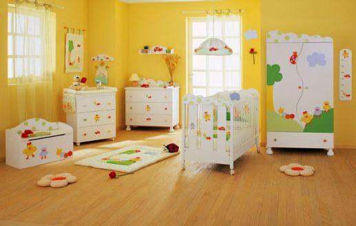 Paredes amarelas lindas em decoração com quarto infantil (Foto: Ilustração)