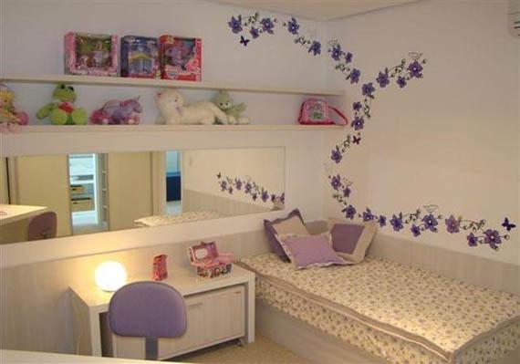 Flores lindas de decoração em quarto infantil (Foto: Ilustração)