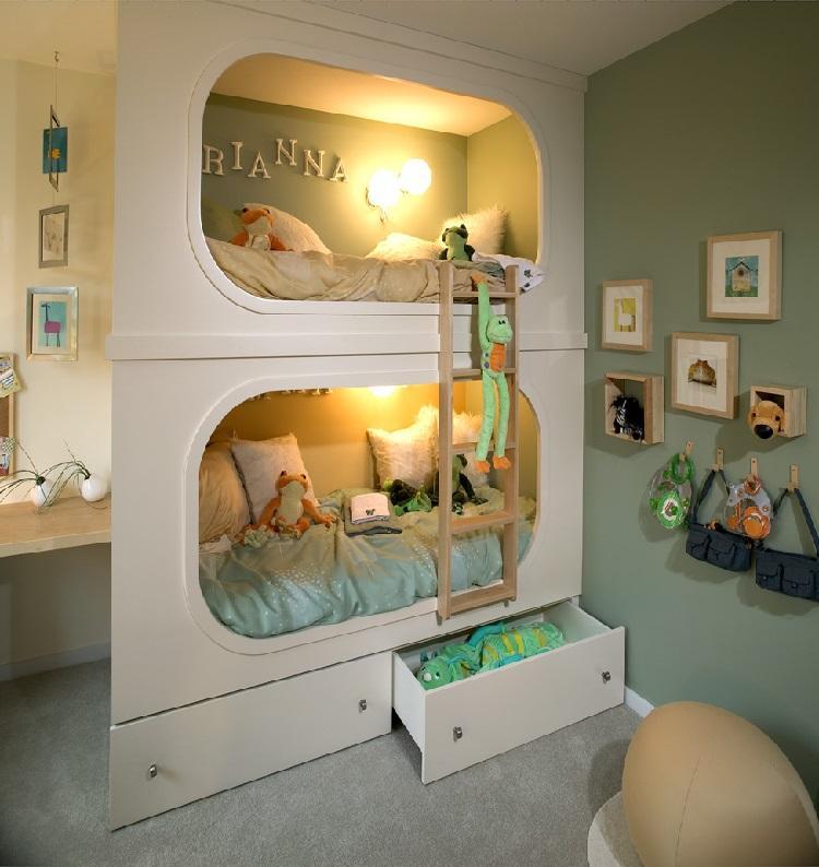 Beliche para quarto com mais de uma criança (Foto: Reprodução/ Blog Sua Melhor Decoração)