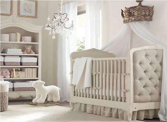 Decoração Neutra para quarto de bebê. (Foto: Reprodução/Materialgirlsblog)