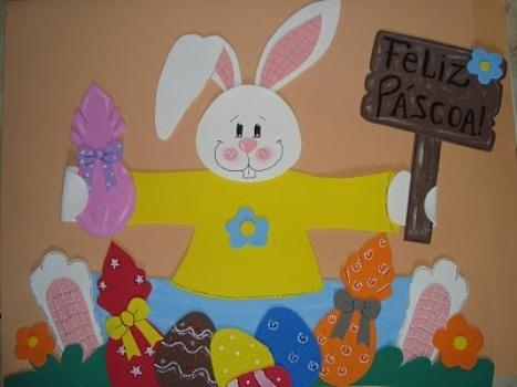 Decoração de Páscoa em EVA para sala de aula (Foto: Reprodução/Nossa Páscoa)
