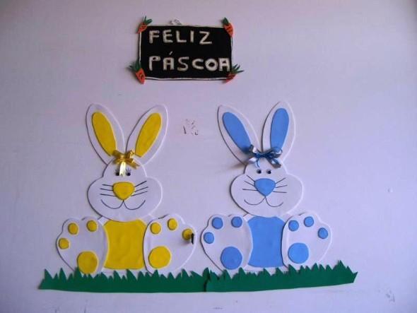 Decoração De Páscoa Em EVA Para Sala De Aula~ Decoracao De Sala Infantil Evangelica