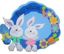 Decoração de Páscoa em EVA para sala de aula