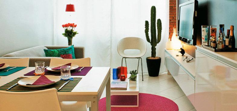 decoracao sala kitnet : decoracao sala kitnet:Deixe o ambiente limpo e saiba escolher onde os itens decorativos vão