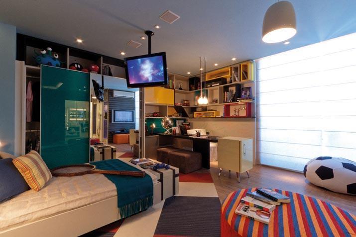 Um quarto mega moderno para um adolescente (Foto: Ta Decorado)