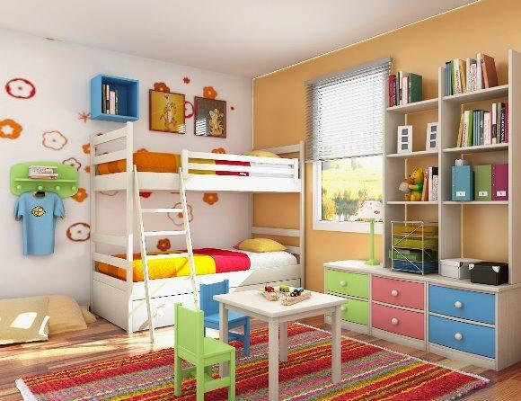 Decorações coloridas para quartos infantis