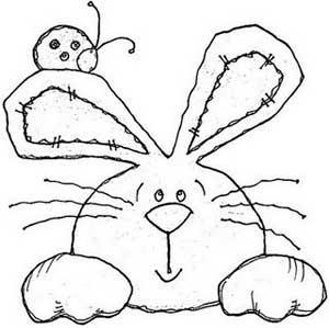 Pinte o coelho (Foto: Reprodução/Blog Riscos e Desenhos)