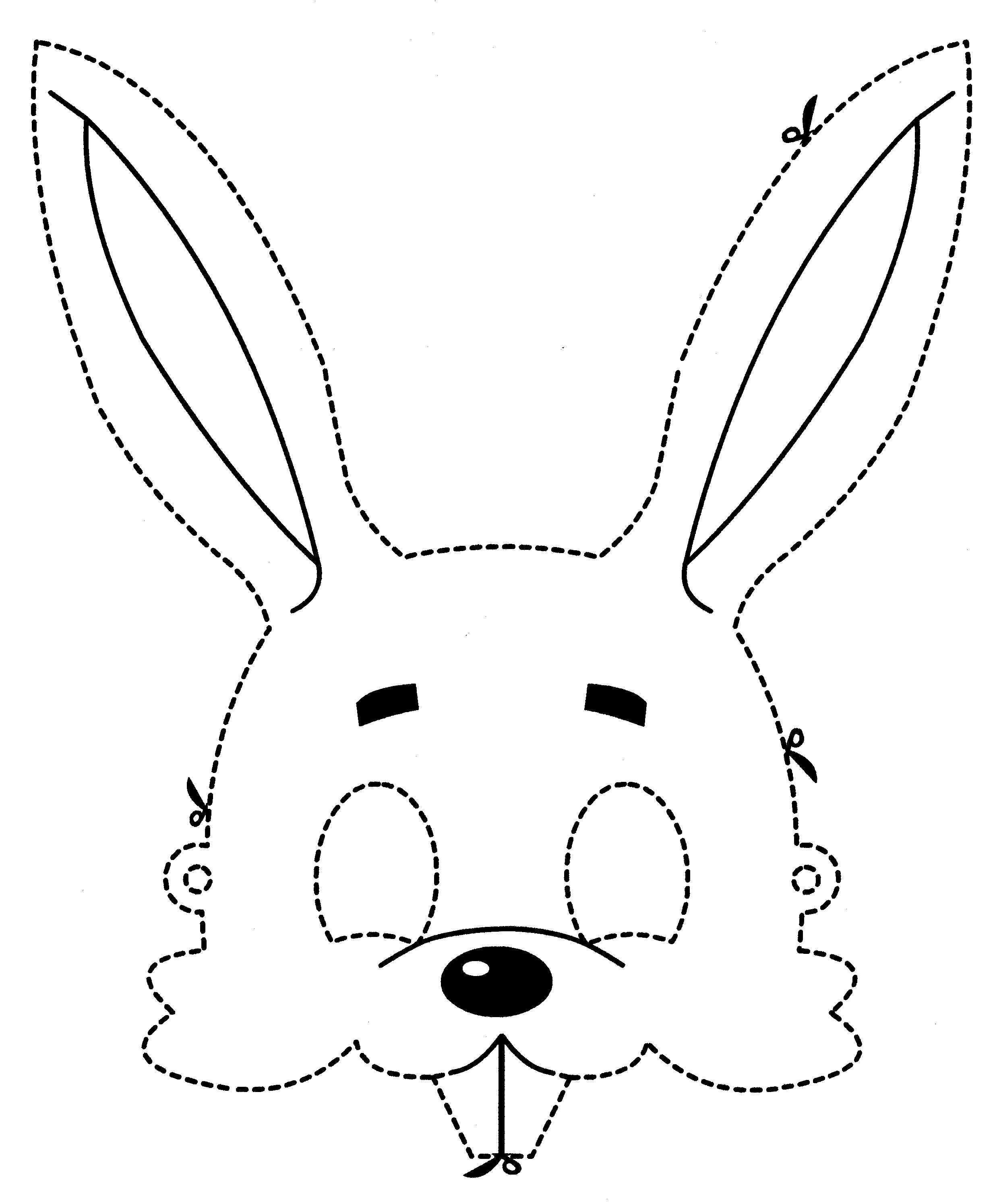 Outro modelo de máscara de coelho (Foto: Reprodução/Blog Colorir)