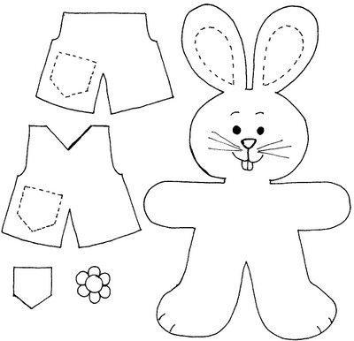 Aproveite também para montar seu ursinho de páscoa (Foto: Reprodução/Blog Ensinar e Aprender)