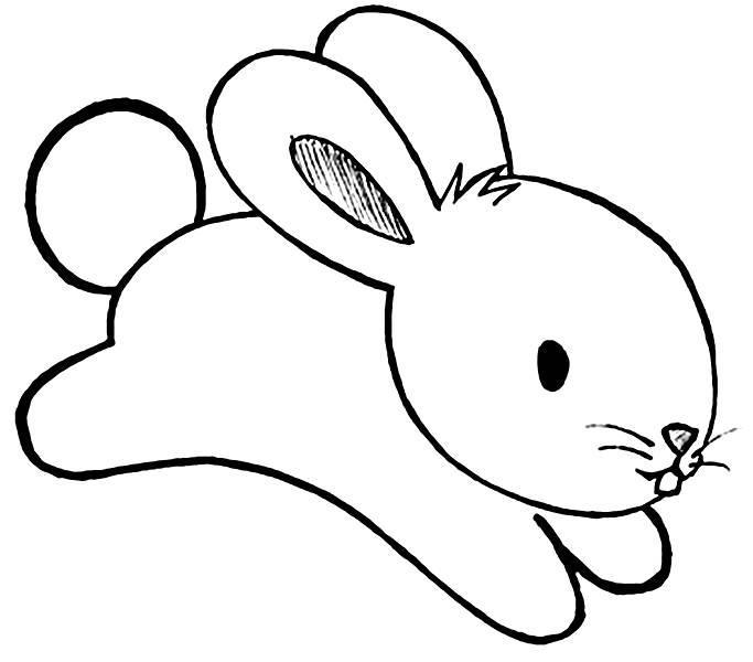 Desenhos e figuras de coelhinho da p scoa para colorir - Hase zeichnen ...
