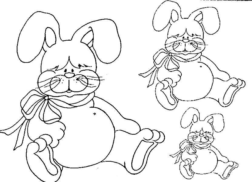 Pinte o coelho da páscoa (Foto: Reprodução/Portal Escolar)