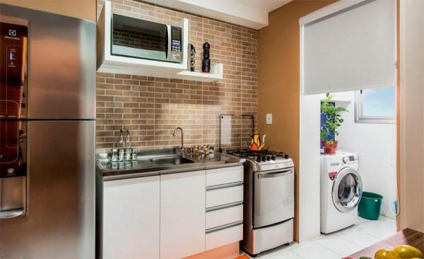 É bem mais fácil limpar a cozinha pequena (Foto: Reprodução/Uzinga)