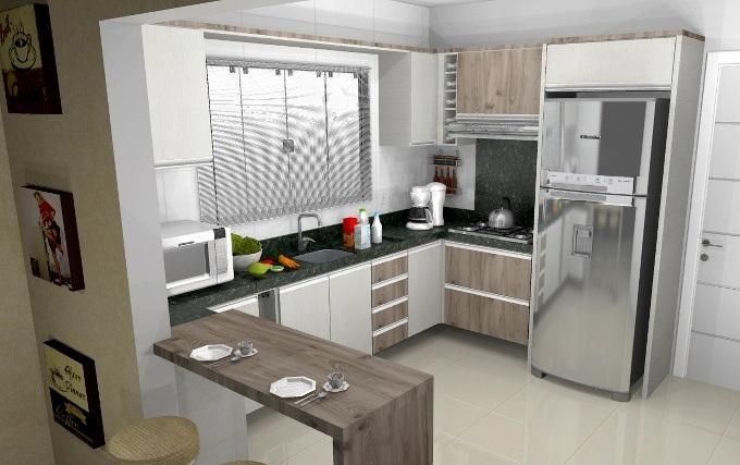 Cozinha planejada (Foto: Reprodução/Decorando Casas)
