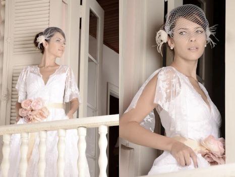 Vestido de noiva lindo (Vestido de noiva anos 50: Foto ilustração)