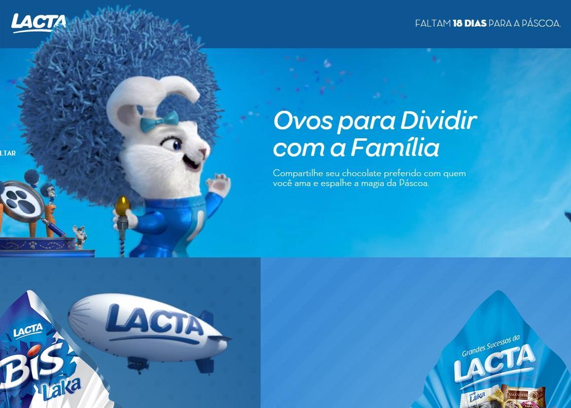 Lacta Chocolates Site www.lacta.com.br (Foto: Reprodução/Lacta)