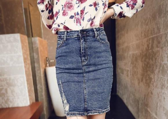 Look para trabalhar: Saia Jeans e Camisa