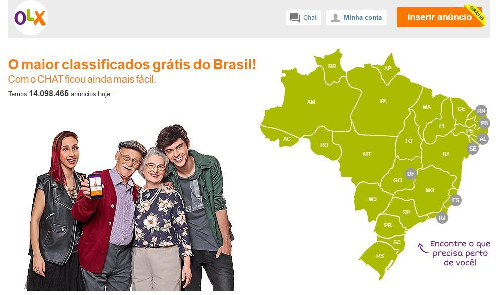 Olx Classificados Grátis, www.olx.com.br (Foto: Reprodução/Site OLX)