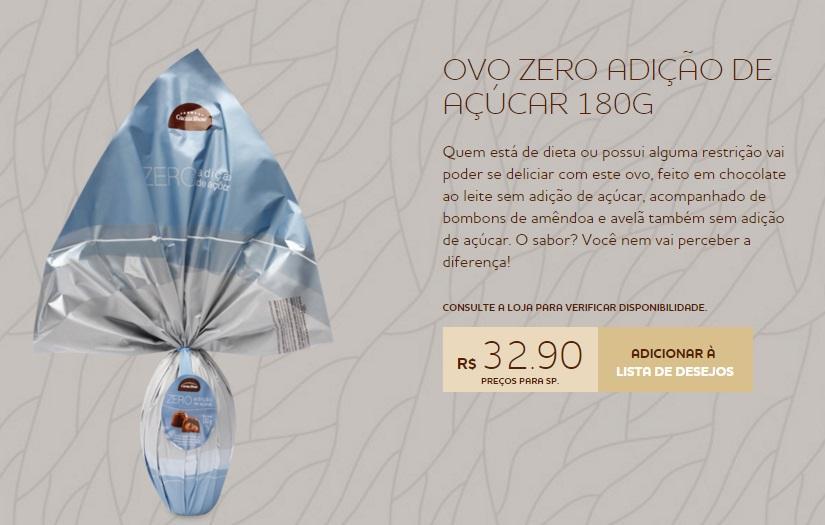 Cacau Show vende produto na internet e pelas lojas (Foto: Reprodução/Cacau Show)