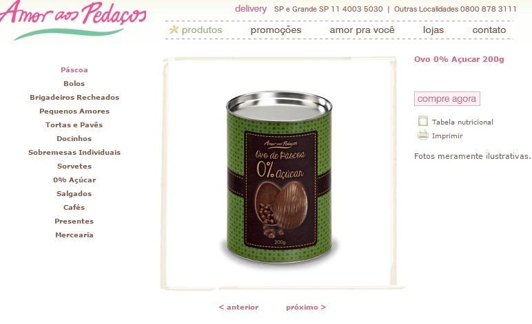 Marca possui diversos produtos (Foto: Reprodução/Amor aos pedaços)