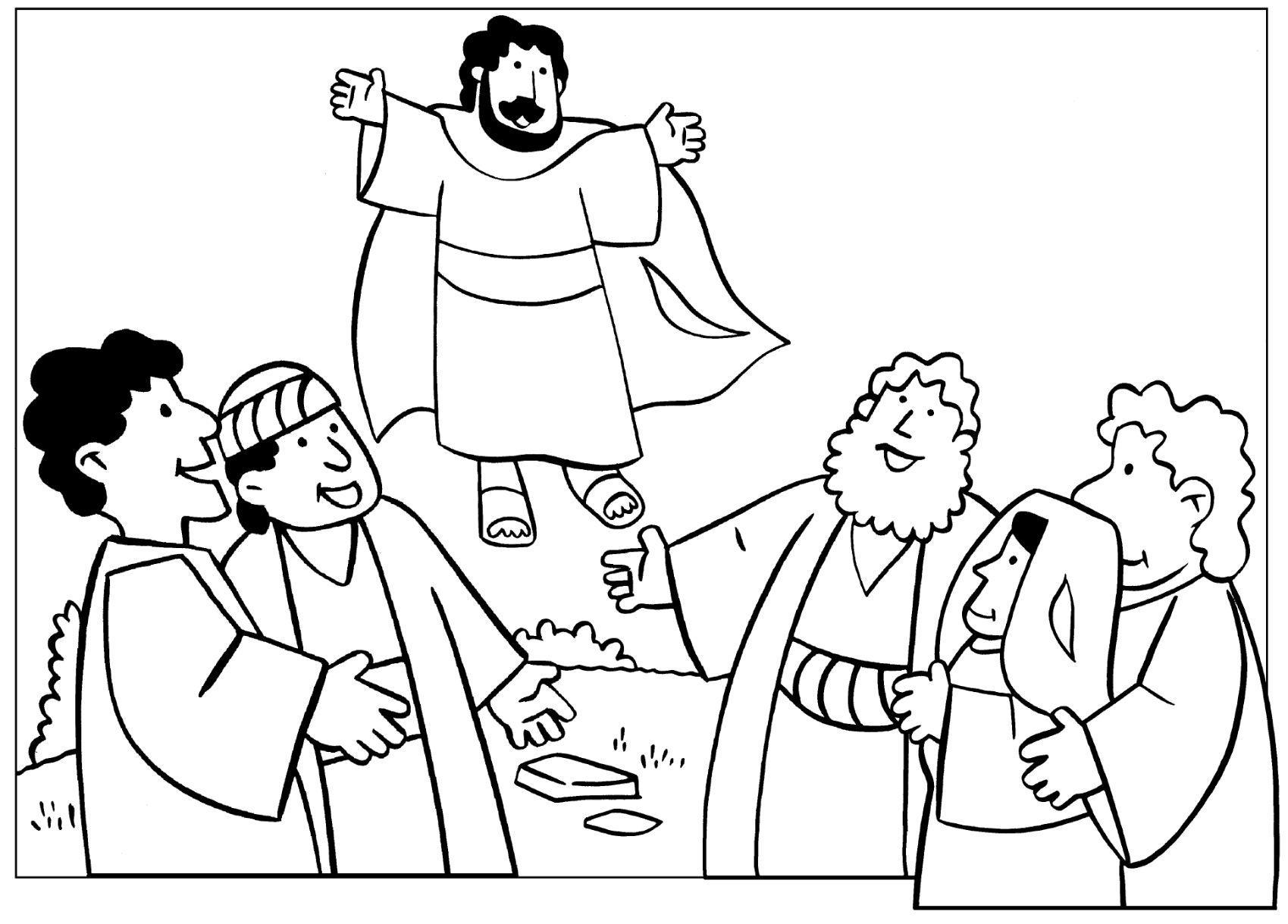 Desenho mostra o que ocorreu na época de jesus antes da páscoa (Foto: Reprodução/Sementinha Kids)