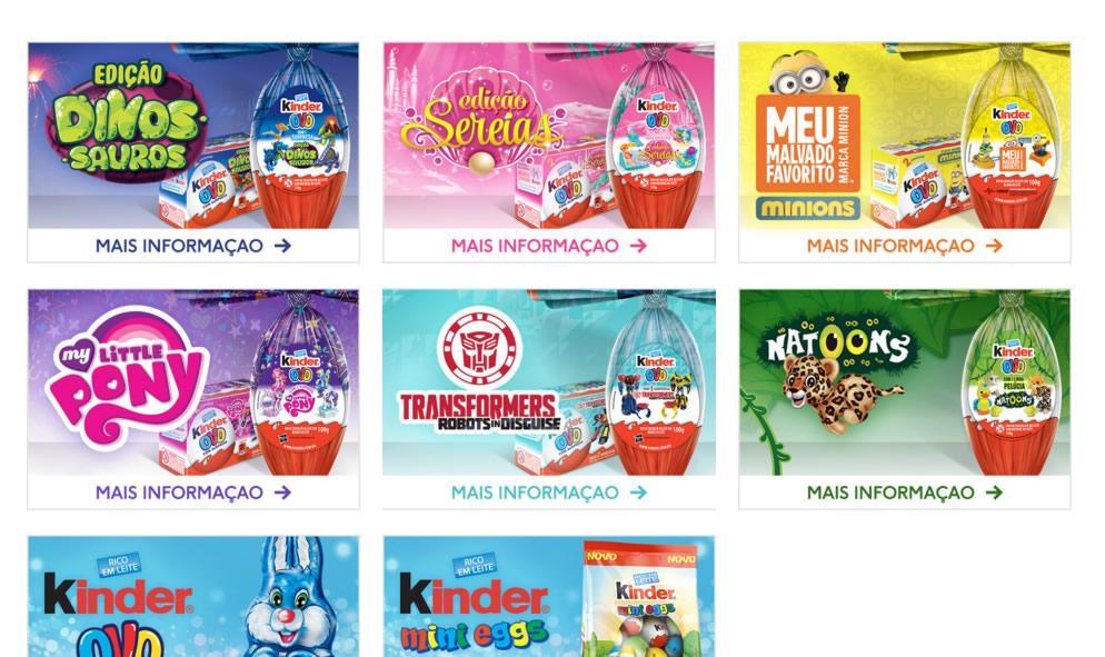 Produtos de páscoa Kinder Ovo 2016 (Foto: Reprodução/Kinder Ovo)