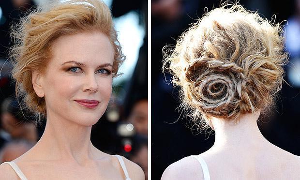Esse cabelo preso parece uma flor (Foto: Mdemulher)