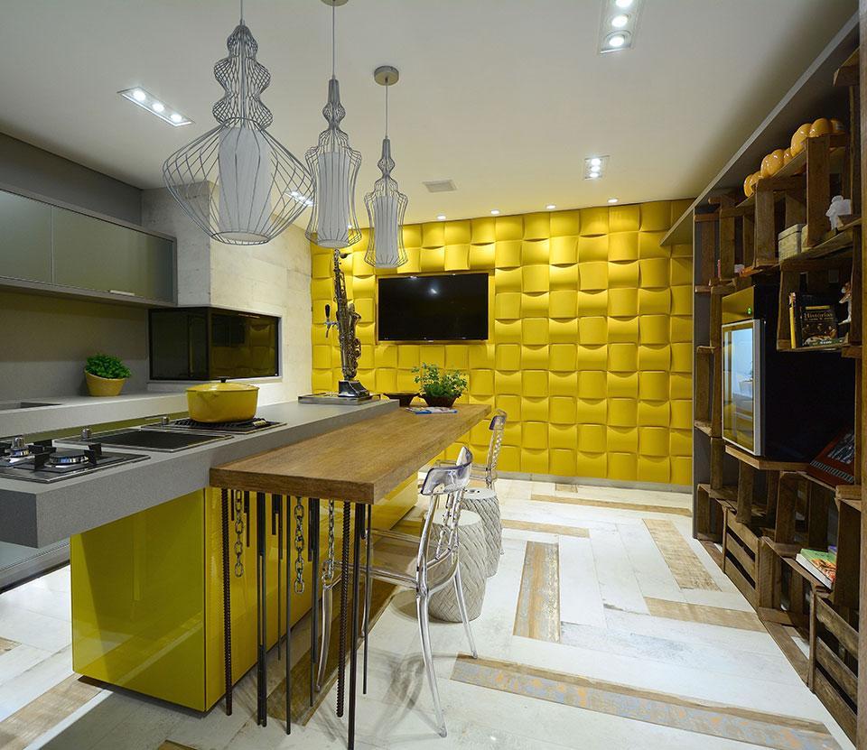 Ambiente grande cozinha (Foto:Reprodução/Casa Abril)