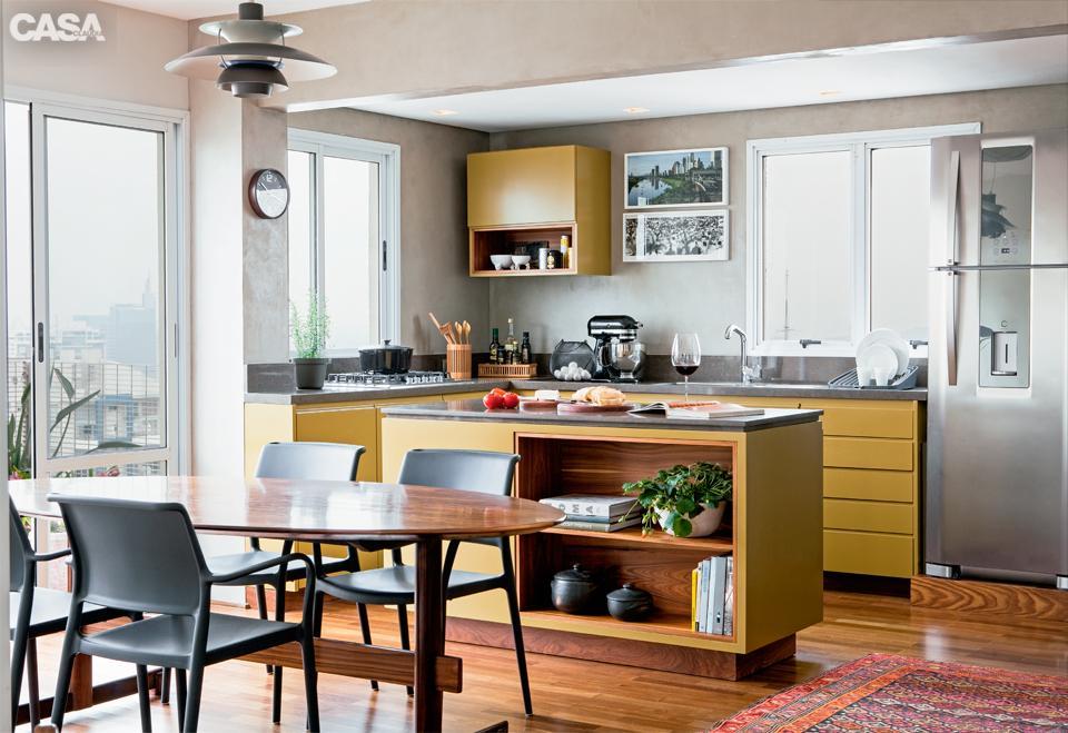 Foto de cozinha grande (Foto:Reprodução/Casa Abril)
