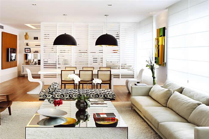 Espaço grande da sala (Foto: Reprodução/Click Interiroes)