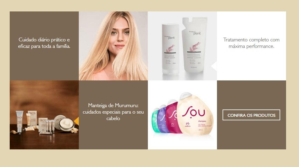 Produtos para o cabelo da linha da Natura (Foto: Reprodução/Site da Natura)