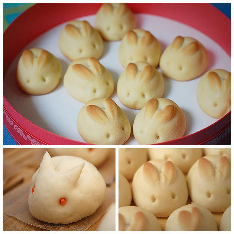 Receita de pão de cenoura com forma de coelho da Páscoa
