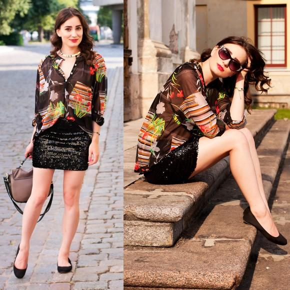 Look elegante com saia paetê. (Foto Ilustrativa)
