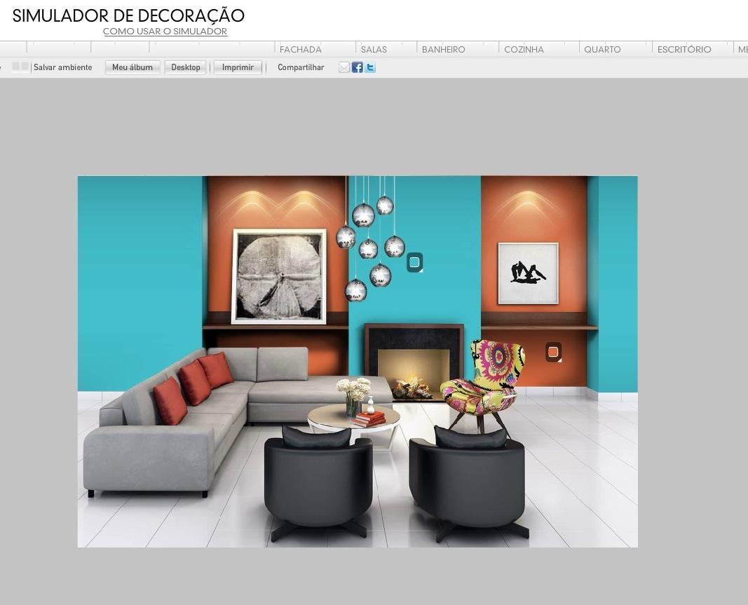 Já pensou em qual cor pintar a sala? (Foto: Reprodução/Site Suvinil)