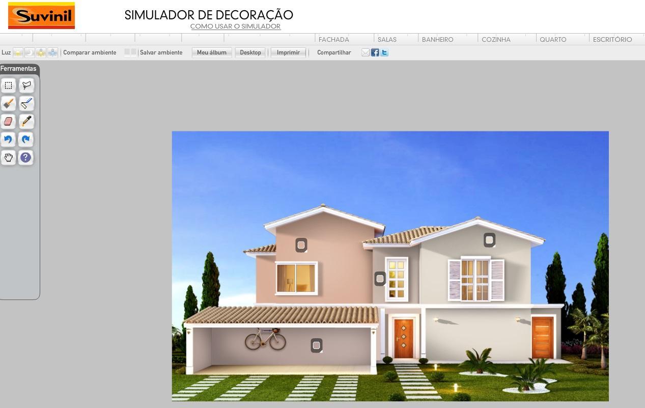 Você pode simular a fachada (Foto: Reprodução/Site Suvinil)