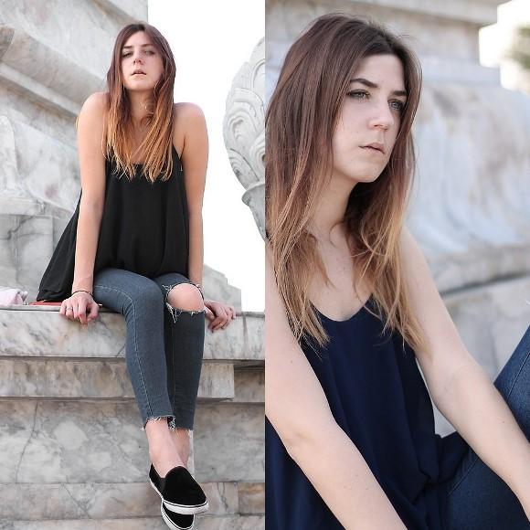 Tênis Slip On Feminino: fotos e looks (Foto: Reprodução/Lookbook.nu/Alix M)