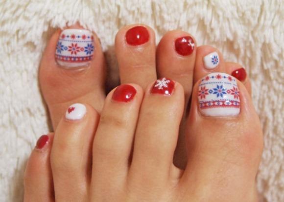 Unhas dos pés decoradas fotos e dicas. (Foto: Reprodução/365greetings)