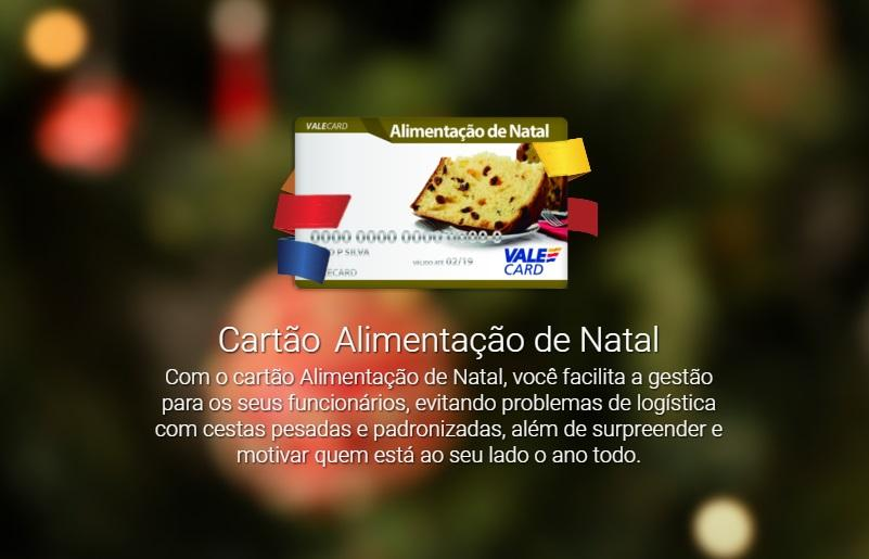 Cartão de Natal (Foto: Reprodução/Vale Card)