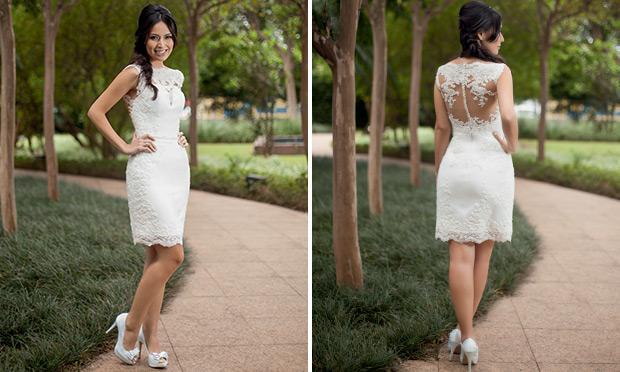 Tem até vestido de noiva curto (Foto: M de Mulher/Abril)