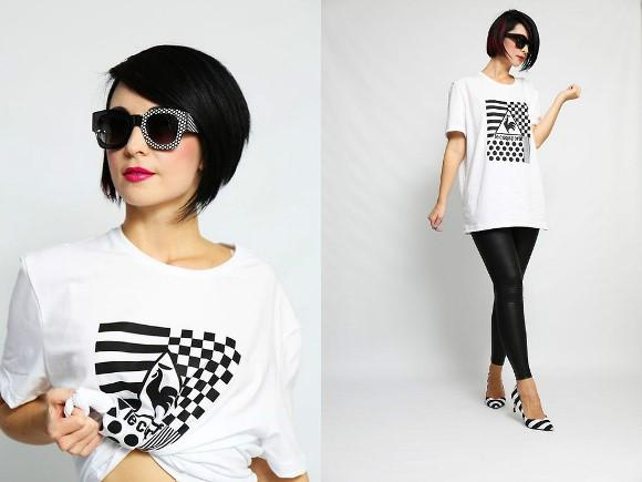 Camiseta longa + calça legging com brilho. (Foto Ilustrativa)