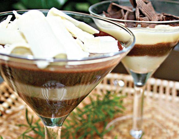 A montagem do creme de cupuaçu com chocolate pode acontecer de várias formas (Foto: Reprodução Corpo a Corpo)