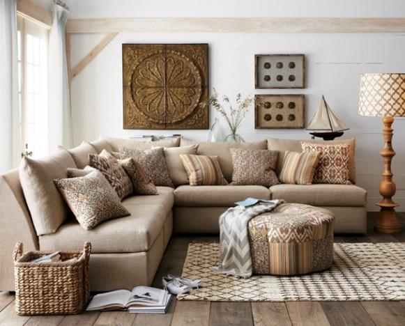 Sala decorada para o inverno. (Foto: Reprodução/Mopcom)