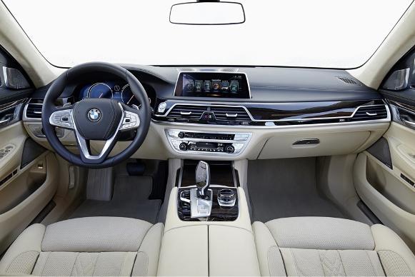 Parte interna do BMW Série 7. (Foto: Reprodução/BMW)