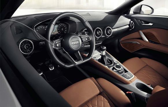 Interior do Audi TTS. (Foto: Reprodução/Audi)