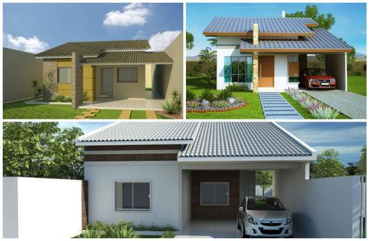 25 plantas de casas modernas com projeto 3d lindos for Modelos de casas de una planta modernas