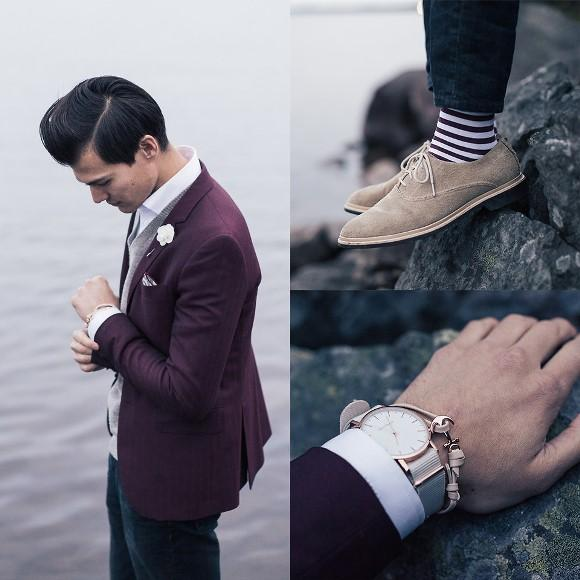 Relógio masculino. (Foto: Reprodução/Lookbook.nu)
