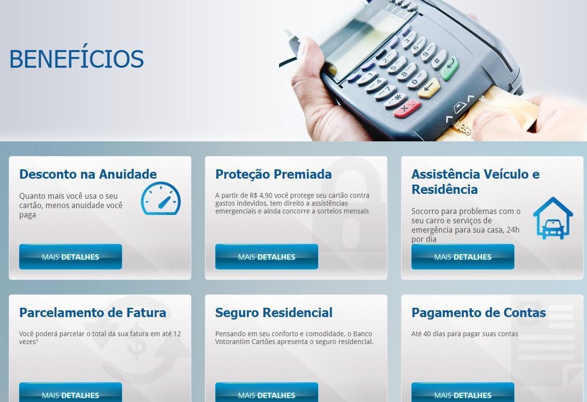 Contato do Banco Votorantim (Foto: Reprodução/ Cartões Votorantim)