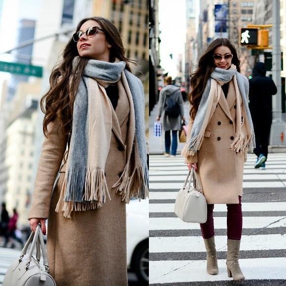 Fique estilosa no inverno usando cachecóis. (Foto: Reprodução/Lookbook.nu)