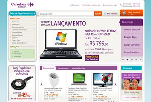 Pesquise preços nas Lojas Online do Carrefour (Foto: Divulgação)