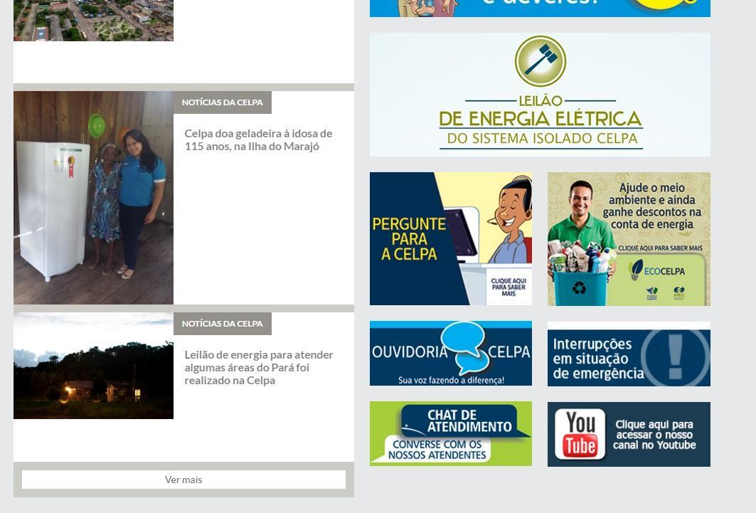 Acompanhe o site da Celpa para conhecer outros serviços da empresa (Foto: Reprodução/Celpa)